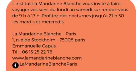 Communiqué de Presse La Mandarine Blanche Mars 2018